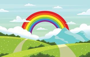 Regenbogenhintergrund für den Sommer vektor