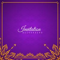 Abstraktes schönes Einladungshintergrunddesign vektor