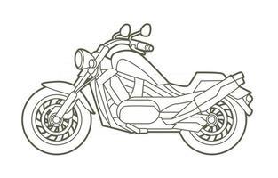 skizze motorrad motorrad chopper vektor