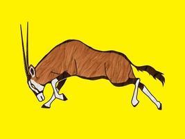 Oryx springt zum Angriff vektor