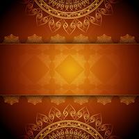 Abstrakt stilig lyxig mandala bakgrund vektor
