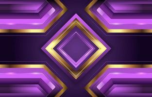 Lavendel und goldener Diamanthintergrund vektor