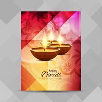 Abstraktes glückliches Diwali-Festivalbroschürendesign vektor