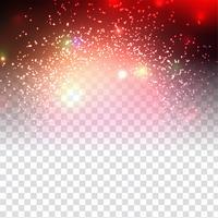 Abstrakt glittrande snygg design på transparent bakgrund