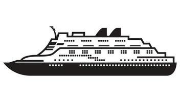 einfache Schiffssilhouette vektor