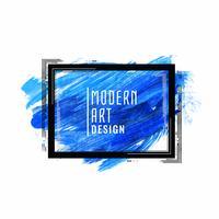 Abstrakter blauer Hintergrund der modernen Kunst des Aquarells vektor