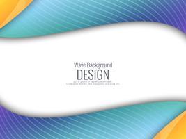Abstrakter stilvoller bunter wellenförmiger Hintergrund vektor