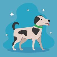 süßer Hund mit schwarzen Flecken vektor