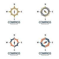 kreative kompasskonzept logo designvorlage vektor