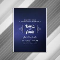 Abstrakte Hochzeitseinladungs-Kartenschablone vektor