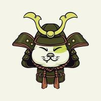 Samurai süße lustige Katze vektor
