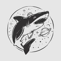 Hai-Weltraumillustration vektor