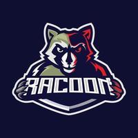 Waschbär-Maskottchen-Logo vektor
