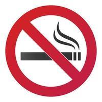 Rauchverbotsschild mit Rauchverbotszeichen-Symbol auf weißem Hintergrund Vektor-Illustration mit Farbverlauf vektor