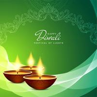 Abstrakter glücklicher religiöser Hintergrund Diwali vektor