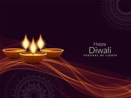 Abstrakter glücklicher Diwali religiöser eleganter Hintergrund vektor