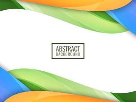 Abstrakt ljus färgrik vågig bakgrund vektor