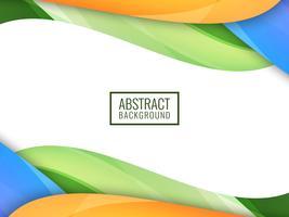 Abstrakter heller bunter wellenförmiger Hintergrund vektor
