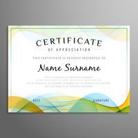 Wellenförmiger Hintergrund des abstrakten Zertifikats
