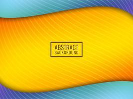 Abstrakt färgrik vågig bakgrund vektor