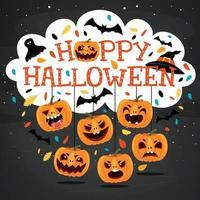 Halloween-Konzept mit lustigem Charakter vektor