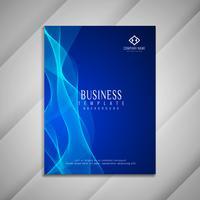 Abstraktes gewelltes Geschäftsbroschürenschablonendesign