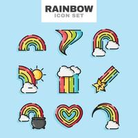 Regenbogen-Icon-Set vektor