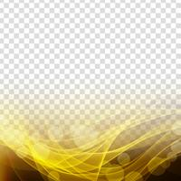 Transparenter eleganter Hintergrund der abstrakten glühenden Welle vektor