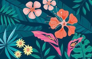 moderne exotische tropische Blumen vektor