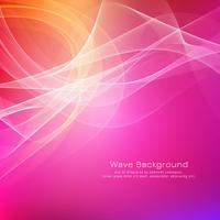 Abstrakt färgrik våg bakgrundsdesign