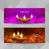 Abstrakte glückliche religiöse Fahnen Diwali eingestellt