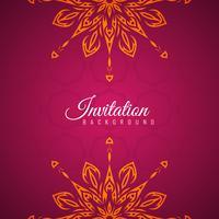 Abstraktes dekoratives Einladungshintergrunddesign vektor