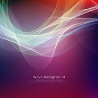 Abstrakt färgrik våg ljus bakgrund