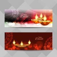 Abstrakt Glad Diwali bannersats