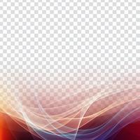 Abstrakt stilfull färgstark våg transparent bakgrund