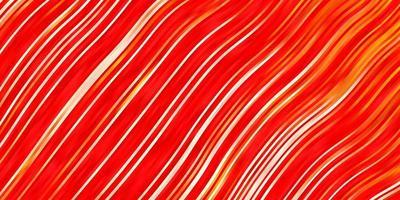 hellroter Vektorhintergrund mit bunter Illustration des Kreisbogens, der aus Kurvenmuster für Anzeigenwerbungen besteht vektor