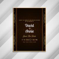 Abstraktes schönes Hochzeitseinladungs-Kartenschablonendesign vektor