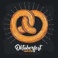 Oktoberfest Bierfest Feier mit leckerer Brezel vektor