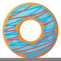 heller Donut mit blauer Glasur und Beeren-Zitronen-Zuckerguss kein Diät-Tag-Symbol ungesundes Essen süßes Fastfood Zucker-Snack zusätzliche Kalorien Konzept Vektorgrafik isoliert auf weißem Hintergrund im Cartoon-Stil vektor
