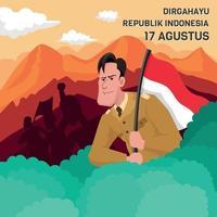 Indonesien Unabhängigkeitstag vektor