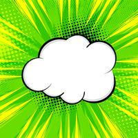 Abstrakter hellgrüner komischer Hintergrund vektor