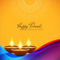 Abstrakter stilvoller glücklicher Diwali-dekorativer Hintergrund vektor