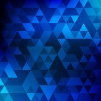 Abstrakter geometrischer blauer Mosaikhintergrund vektor
