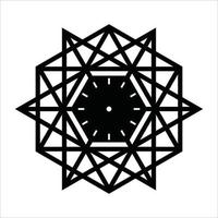 Lasergeschnittenes Uhrmuster vektor