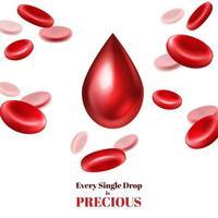 realistisches Blutspenderplakat vektor