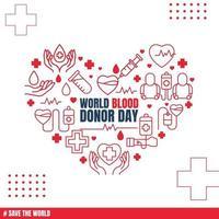 Hintergrund der weltweiten Blutspender vektor