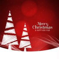 Abstrakt elegant röd God jul bakgrund vektor