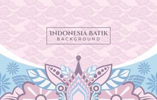leuchtend rosa Batik mit Blumenmusterhintergrund vektor