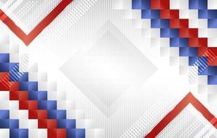 geometrischer roter blauer weißer Hintergrund der Steigung vektor