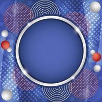 geometrischer abstrakter roter blauer weißer Hintergrund der Steigung vektor